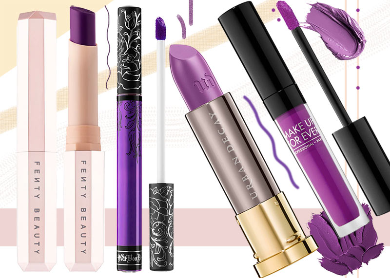 17 Best Purple Lipstick Shades for the Born to the Purple