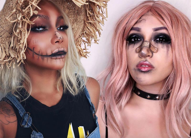 51 Creepy and Cool Halloween Makeup Ideas to Try in 2020